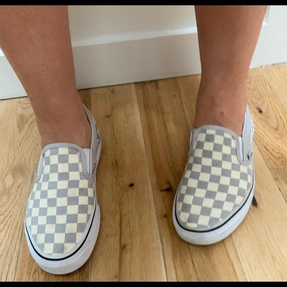 Vans Grey Dawn Checkerboard Slip On